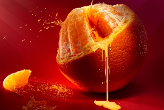L'Orange en éruption